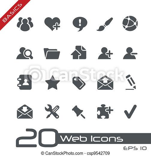 //, tela, fundamentos, iconos - csp9542709
