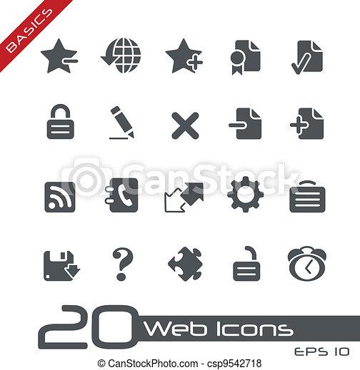 //, tela, fundamentos, iconos - csp9542718