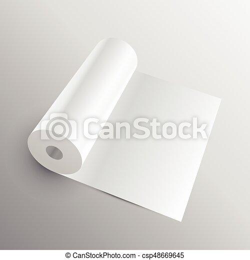 Tela mockup o rollo de papel 3d
