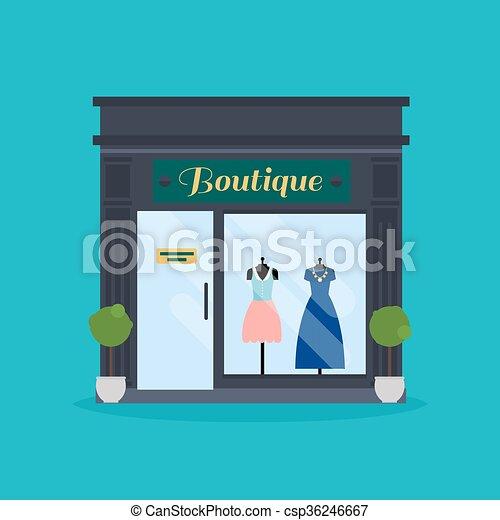 63d163a79bb3 tela, moda, empresa / negocio, shop., boutique, ideal, gráfico,  publicaciones, facade., ropa, mercado, design.