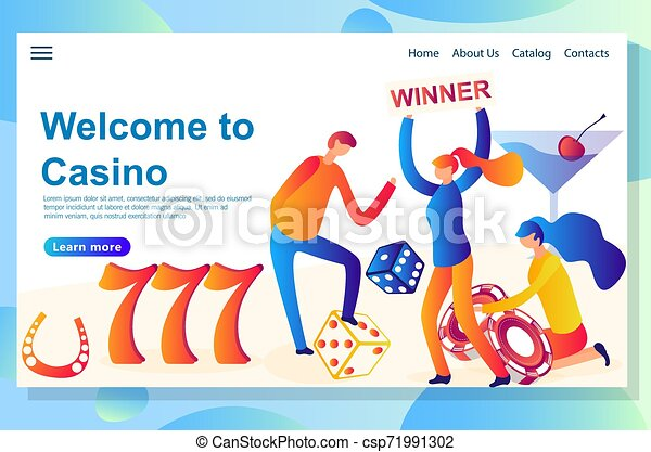 Diseño de páginas web para el tema del casino. Gran victoria al gran riesgo - csp71991302