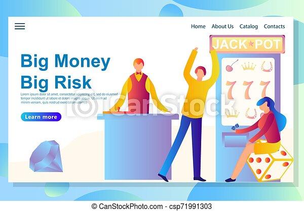 Diseño de páginas web para el tema del casino. Gran victoria al gran riesgo - csp71991303