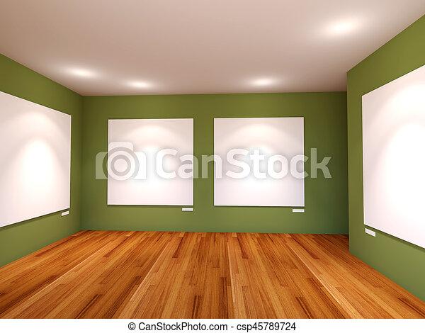 Pareti In Tela : Tavola di legno d che guarda fuori ad una tela in bianco su una