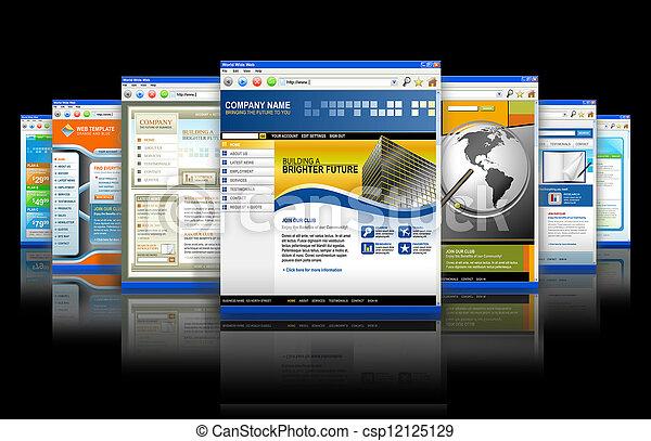 tela, tecnología, reflexión, sitios web, internet - csp12125129