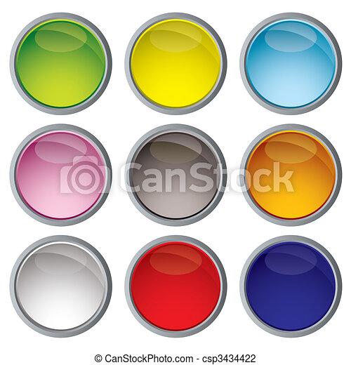 Variación de iconos web - csp3434422