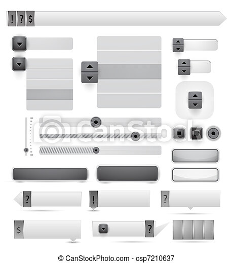 tela, vector, diseñe elementos - csp7210637