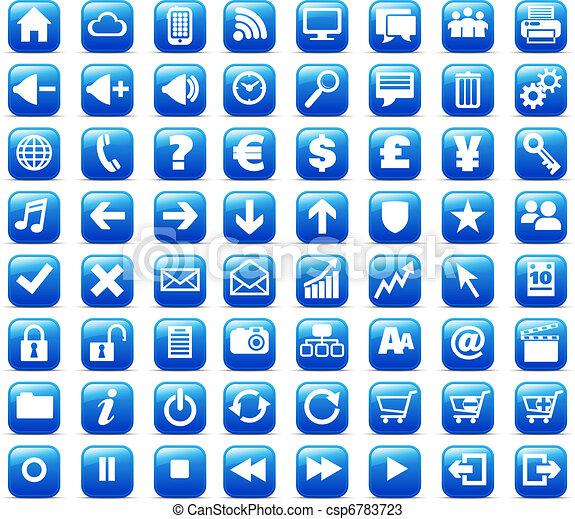 Nuevos botones de internet y medios de comunicación - csp6783723