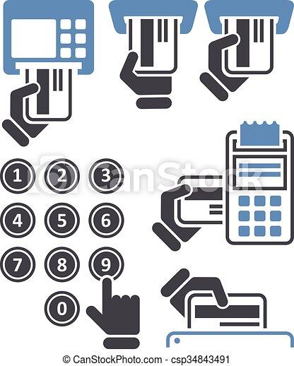El teclado del cajero automático y el posterminal - csp34843491