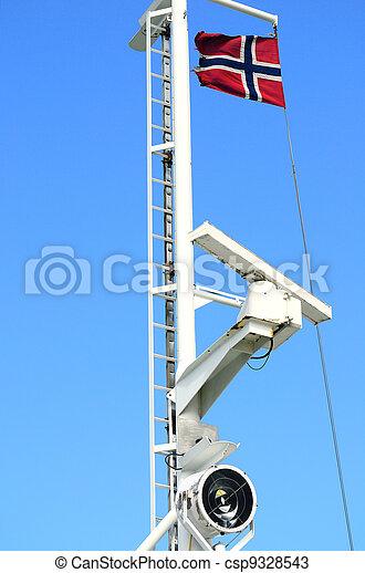Telecommunication radar ship - csp9328543