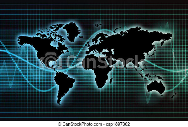 Telecommunications Industry Global Network - csp1897302