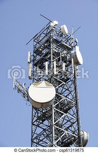 Telecommunications tower . antenna Mobile phone base station - csp61319875