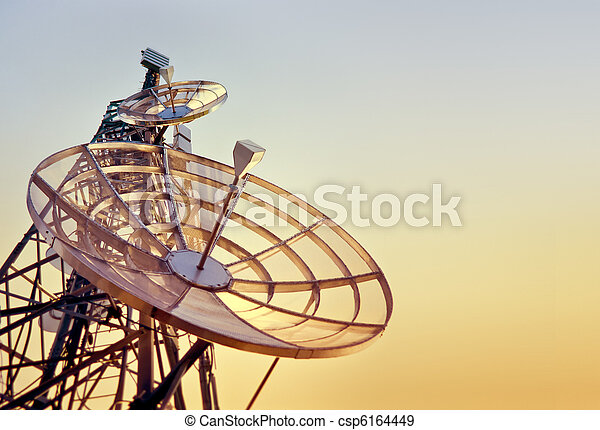 telecommunications tower at the sunset - csp6164449