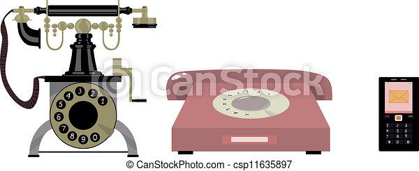 telefon, historia - csp11635897