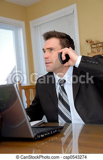 telefon, mann - csp0543274