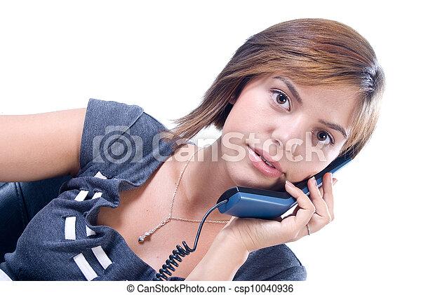 telefon woman, felel - csp10040936