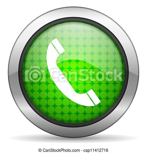 telefone, ícone - csp11412716