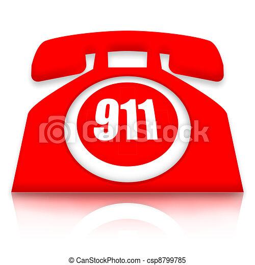 telefone, emergência - csp8799785