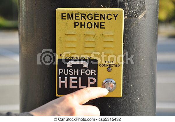 telefone, empurrar, ajuda, emergência - csp5315432