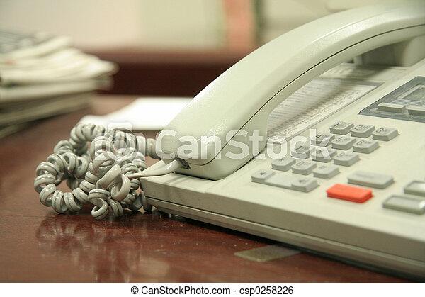 telefone, escritório - csp0258226