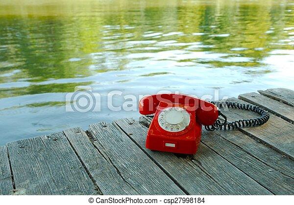 telefone velho, natureza - csp27998184