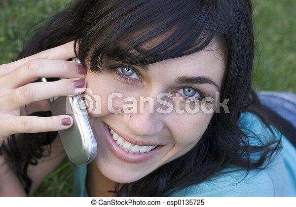 telefonera kvinna - csp0135725