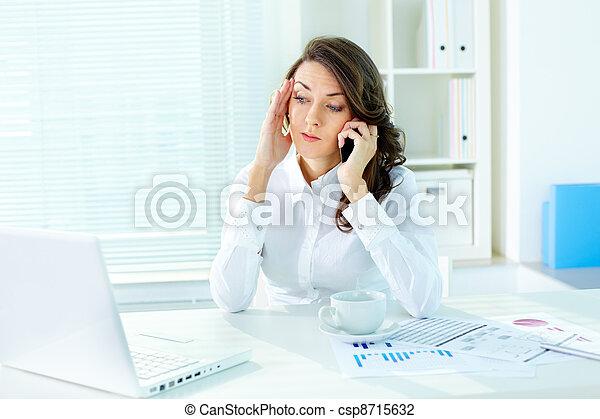 telefono, discussione - csp8715632