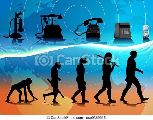 telefono, evoluzione - csp9359916
