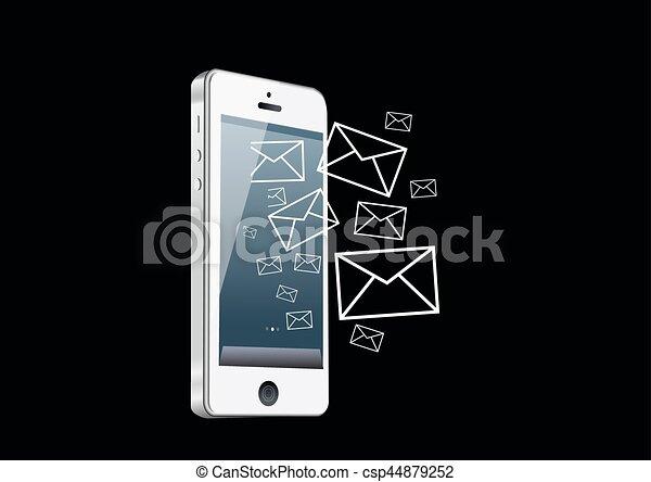 telefono, far male, posta - csp44879252