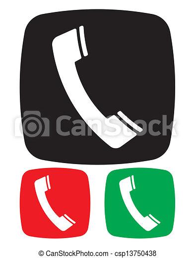 telefono, icona - csp13750438
