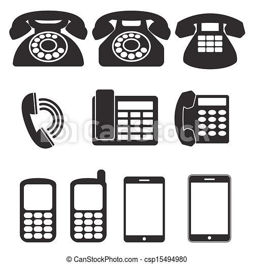telefono, icone - csp15494980