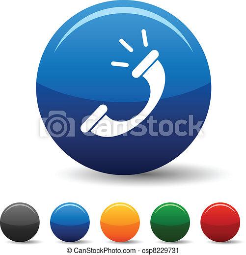 telefono, icons. - csp8229731