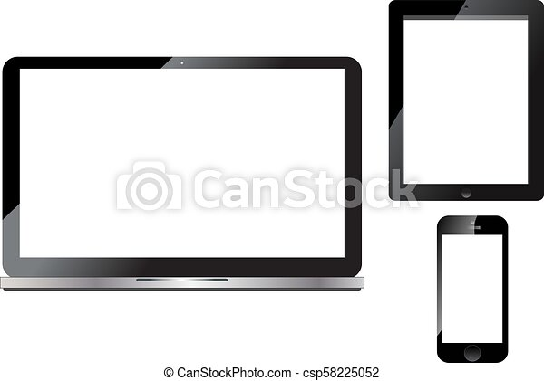 telefono, laptop, tavoletta, far male - csp58225052