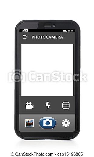 telefono, macchina fotografica - csp15196865