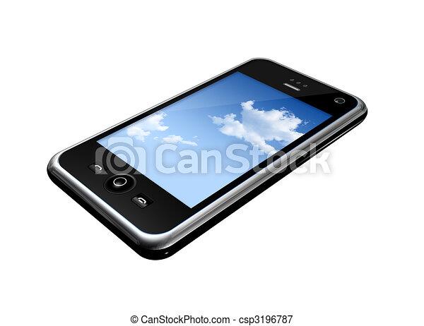 telefono mobile - csp3196787
