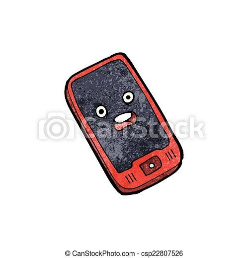 telefono mobile, cartone animato - csp22807526