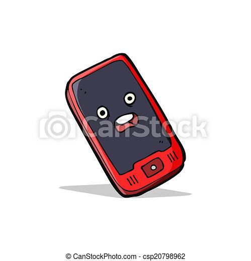 telefono mobile, cartone animato - csp20798962