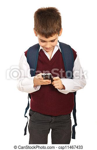 telefono mobile, scolaro - csp11467433