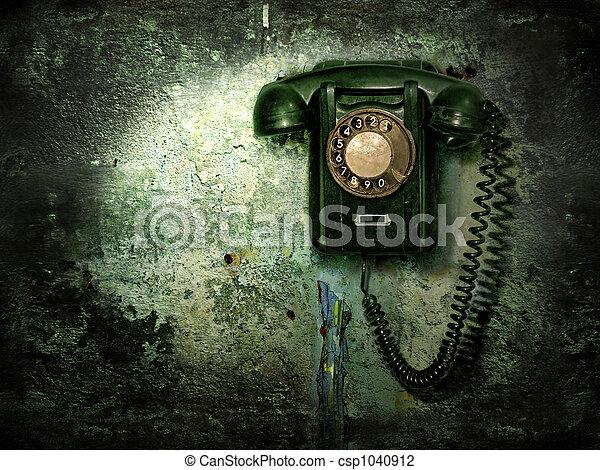 telefono, vecchio - csp1040912