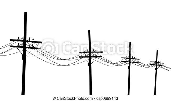 Telegraph poles - csp0699143