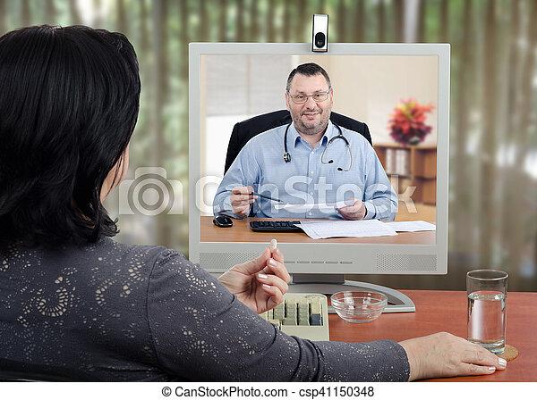 Telehealth medical advise providing - csp41150348