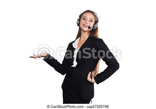 Telemarketer woman - csp47325746