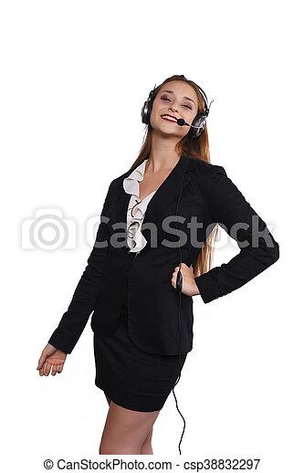 Telemarketer woman - csp38832297