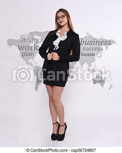 Telemarketer woman - csp36724807