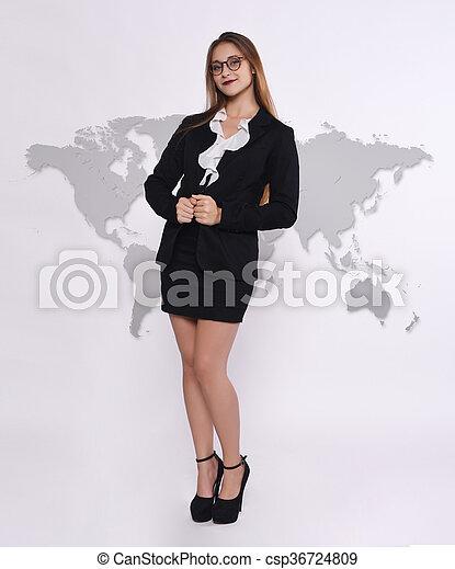 Telemarketer woman - csp36724809