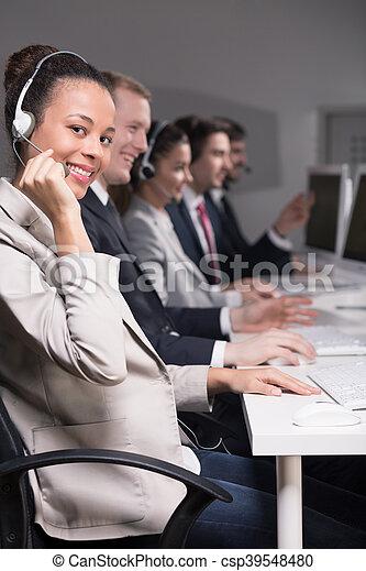 Telemarketers at work - csp39548480