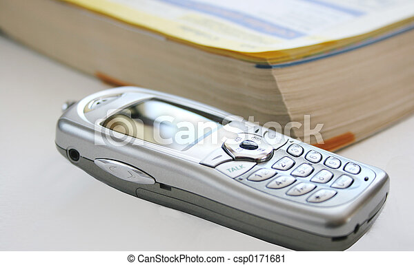 telephone book cell phone - csp0171681