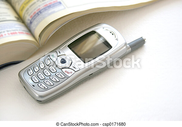 telephone book cell phone - csp0171680