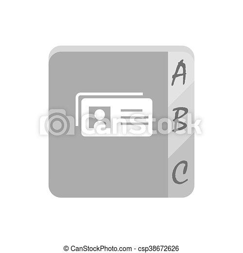 Telephone book icon - csp38672626