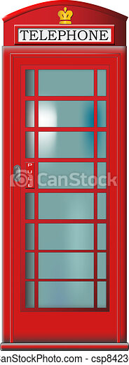 Telephone booth - csp8423630