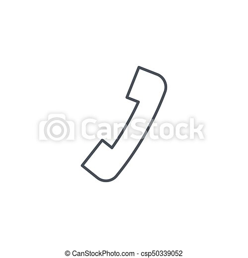 telephone call, contact us, handset, phone thin line icon  Linear vector  symbol